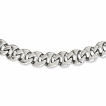 Chisel Polished Stainless Steel Theta Link Necklace