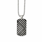 Chisel Stainless Steel and Black Enamel Dog Tag