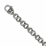 Chisel Stainless Steel Antique and Textured Link Bracelet