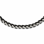 Chisel Stainless Steel & Black IP Necklace