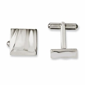 Chisel Stainless Steel Concave Cufflinks