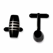 Chisel Stainless Steel Cufflinks with Black IP