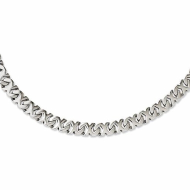 Chisel Stainless Steel Fancy X Link Necklace