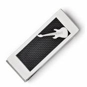 Chisel Stainless Steel Guitar Money Clip with Carbon Fiber