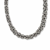 Chisel Stainless Steel Interlinked Circles Necklace