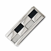 Chisel Stainless Steel Money Clip with Black and Gray Carbon Fiber