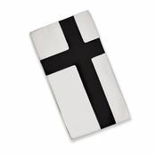 Chisel Stainless Steel Money Clip with Black Enamel