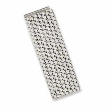 Chisel Stainless Steel Money Clip with Weave Design