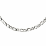 Chisel Stainless Steel Open Links Necklace