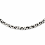 Chisel Stainless Steel Oval Link Necklace