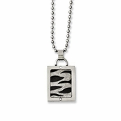 Chisel Stainless Steel Pendant with Black IP