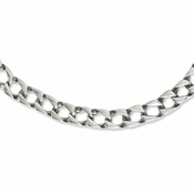 Chisel Stainless Steel Square Link Necklace