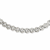Chisel Stainless Steel Theta Link Necklace