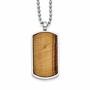 Chisel Stainless Steel Tiger's Eye Dog Tag