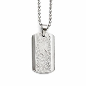 Chisel Textured Stainless Steel Dog Tag