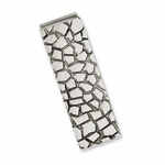 Chisel Textured Stainless Steel Money Clip