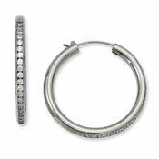 Chisel Titanium CZ (Cubic Zirconia) Hoop Earrings
