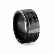 Edward Mirell 10mm Black Titanium Ring with Engravings