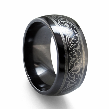 Edward Mirell 10mm Dome Black Titanium Ring