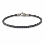 Edward Mirell 3mm Black Titanium Cable Bracelet