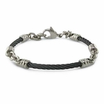 Edward Mirell 3mm Black Titanium Cable Link Bracelet