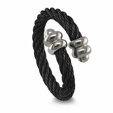 Edward Mirell 3mm Black Titanium Cable Ring