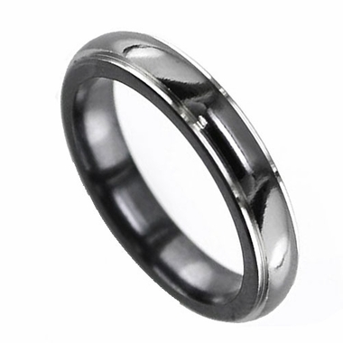 Edward Mirell 4mm Black Titanium Ring with Flat Edges