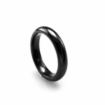 Edward Mirell 4mm Classic Black Titanium Ring