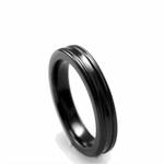 Edward Mirell 4mm Concave Black Titanium Ring