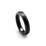 Edward Mirell 4mm Triple Dome Black Titanium Ring