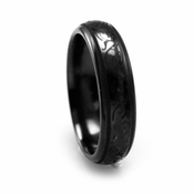 Edward Mirell 6mm Black Titanium Ring with Engravings