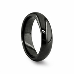 Edward Mirell 6mm Classic Black Titanium Band