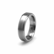 Edward Mirell 6mm Dual Finish Titanium Ring