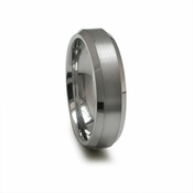 Edward Mirell 6mm Dual Finish Titanium Ring with Beveled Edges