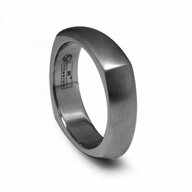 Edward Mirell 6mm Squared Titanium Ring