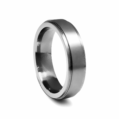 Edward Mirell 6mm Titanium Ring with Squared Edges