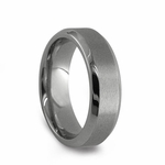 Edward Mirell 7mm Dual Finish Titanium Ring