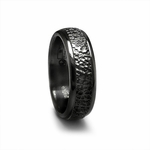 Edward Mirell 7mm Hammered Black Titanium Ring
