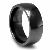 Edward Mirell 8.5mm Classic Black Titanium Ring