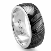 Edward Mirell 8.5mm Dome Timoku Ring with Silver