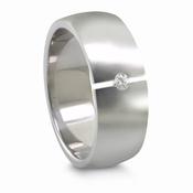 Edward Mirell 8mm Tension Set Diamond Titanium Ring