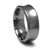 Edward Mirell 9mm Concave Titanium Ring