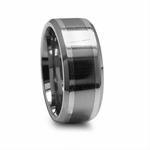 Edward Mirell 9mm Titanium Ring with Sterling Silver Inlay