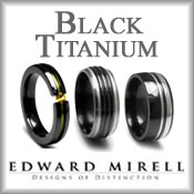 Edward Mirell Black Titanium Rings