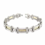 Edward Mirell Cable Squared 14K Yellow Gold Cable Link Bracelet