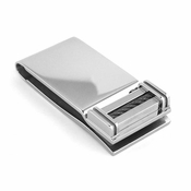 Edward Mirell Cable Squared Titanium and Black Cable Money Clip
