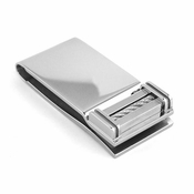 Edward Mirell Cable Squared Titanium and Silver Cable Money Clip