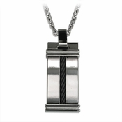 Edward Mirell Cable Squared Titanium Necklace