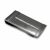 Edward Mirell Cable Titanium and Silver Cable Money Clip