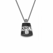 Edward Mirell Chaos Black Titanium Diamond Necklace with Sterling Silver